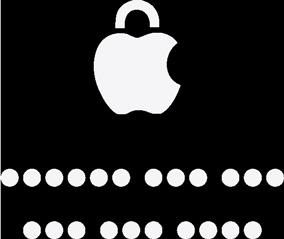 Logo Apple en forme de cadenas.