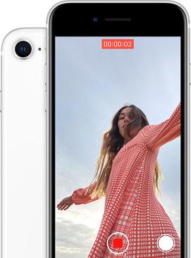 Interface de l'application vidéo de l'iPhone SE.
